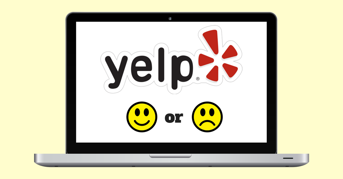 the yelp advertising program on a laptop screen