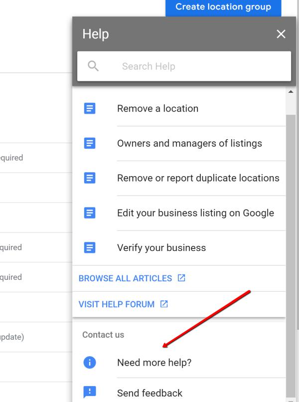google support link